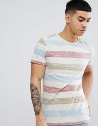 Blend Block Stripe T-Shirt - White