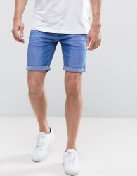Blend Bright Blue Denim Shorts - Blue
