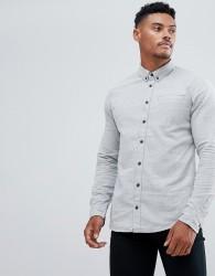 Blend brushed cotton shirt - Grey