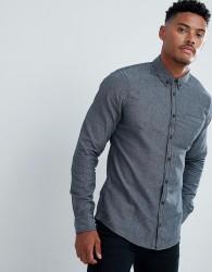 Blend brushed cotton shirt - Navy