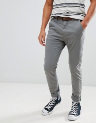 Blend chinos with belt - Beige