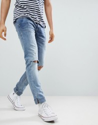 Blend Cirrus Distressed Ripped Skinny Jeans - Grey