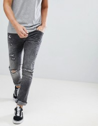 Blend cirrus distressed skinny jeans in grey - Grey