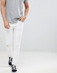 Blend cirrus ripped skinny jeans in white - White