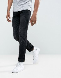 Blend Cirrus Skinny Fit Jean Black Ripped - Black