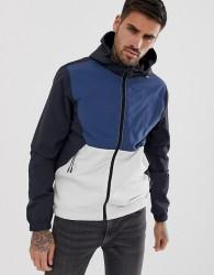 Blend cut & sew lightweight jacket - Blue