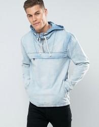 Blend Denim Hooded Jacket - Blue