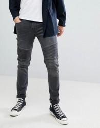 Blend distressed biker jeans - Black