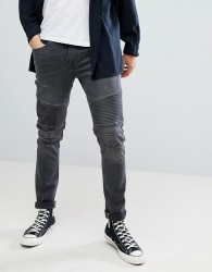 Blend distressed biker jeans - Black