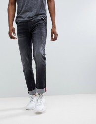 Blend distressed slim fit jeans in washed black - Black