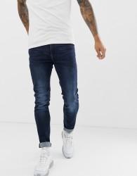 Blend echo tapered fit jean in dark wash - Blue