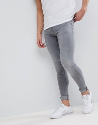 Blend Flurry Grey Wash Extreme Skinny Jeans - Grey