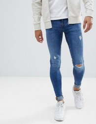 Blend Flurry Mid Wash Extreme Skinny Jeans - Blue