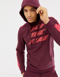 Blend fly the flag hoodie co-ord - Red