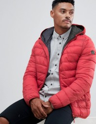 Blend hooded quilted jacket - Red