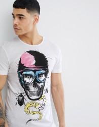 Blend Insect Skull T-Shirt - White