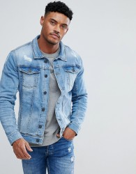 Blend Lightwash Denim Jacket - Blue