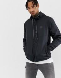 Blend lightweight hooded jacket in black - Black