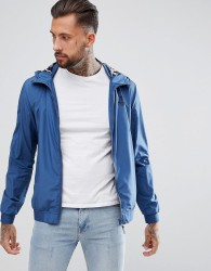 Blend Lightweight Jacket with Palm Print Lining - Blue