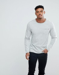 Blend Long Sleeve Breton Stripe T-Shirt - Green