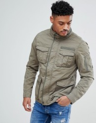 Blend Military Jacket in Khaki - Green