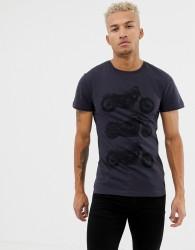 Blend motorcycle t-shirt - Navy