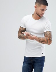 Blend Muscle Fit T-Shirt in White - White