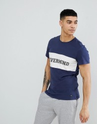 Blend Nevermind T-Shirt in Navy - Navy