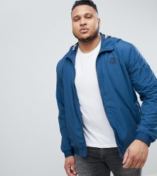 Blend PLUS Lightweight Jacket with Palm Print Lining - Blue