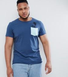 Blend PLUS Palm Tree Pocket T-Shirt - Blue