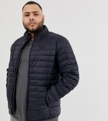 Blend Plus quilted jacket in navy - Navy