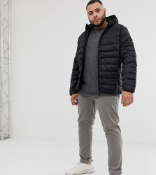 Blend Plus quilted jacket with hood in black - Black