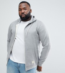 Blend PLUS Zipthru Hoodie in Grey Melange - Grey