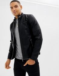 Blend pu biker jacket - Black