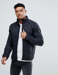 Blend Quilted Jacket in Black - Black