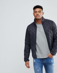 Blend Quilted Jacket in Dark Grey - Grey