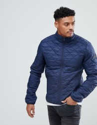 Blend Quilted Jacket in Navy - Navy
