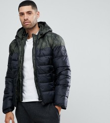 Blend Quilted Jacket Multi Panel - Navy