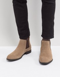 Blend Real Suede Chelsea Boots - Brown