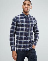 Blend Regular Fit Check Shirt - Navy