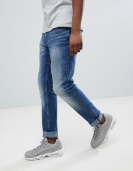 Blend slim fit distressed jeans blue - Blue