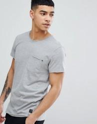Blend Slim Fit Pocket T-Shirt Grey - Grey