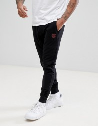 Blend Slim Logo Joggers in Black - Black
