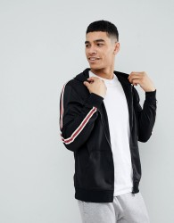 Blend Sports Stripe Hoodie - Black