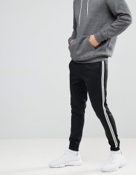 Blend Sports Stripe Sweatpants - Black