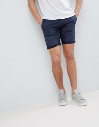 Blend Stretch Denim Shorts - Navy