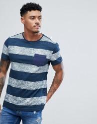 Blend Stripe T-Shirt Navy - Navy