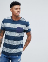 Blend Stripe T-Shirt Navy - Navy