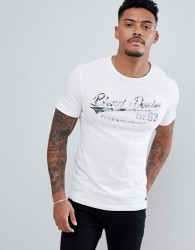 Blend t-shirt in white with logo print - White