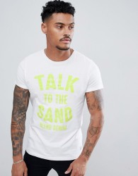 Blend talk to the sand t-shirt - White